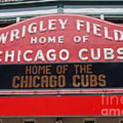 0334 Wrigley Field Poster by Steve Sturgill