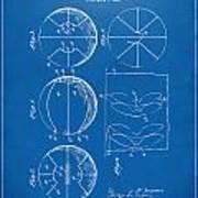 1929 Basketball Patent Artwork - Blueprint Poster by Nikki Marie Smith