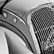 1937 Peugeot 402 Darl'mat Legere Special Sport Roadster Recreation Grille Emblem Poster by Jill Reger