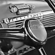 1950 Chevrolet 3100 Pickup Truck Steering Wheel Poster by Jill Reger