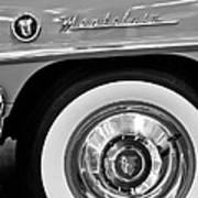 1951 Mercury Montclair Convertible Wheel Emblem Poster by Jill Reger
