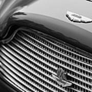 1960 Aston Martin Db4 Gt Coupe' Grille Emblem Poster by Jill Reger