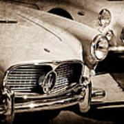 1960 Maserati Grille Emblem Poster by Jill Reger