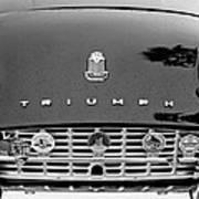 1960 Triumph Tr 3 Grille Emblems Poster by Jill Reger