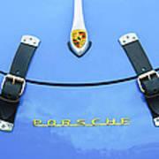 1960 Volkswagen Vw Porsche 356 Carrera Gs-gt Replica Hood Ornament Poster by Jill Reger