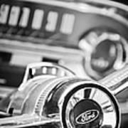 1963 Ford Falcon Futura Convertible Steering Wheel Emblem Poster by Jill Reger