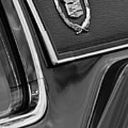 1969 Cadillac Eldorado Emblem Poster by Jill Reger