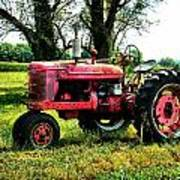Antique Tractor  Poster by Julie Dant