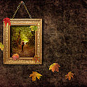 Autumn Frame Poster by Amanda And Christopher Elwell
