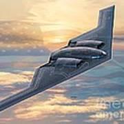 B-2 Spirit Poster by Stu Shepherd