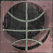 Basketball Abstract Poster by David G Paul