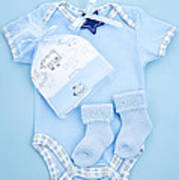Blue Baby Clothes For Infant Boy Poster by Elena Elisseeva