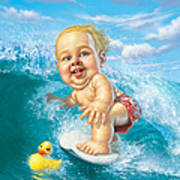 Born To Surf Poster by Mark Fredrickson