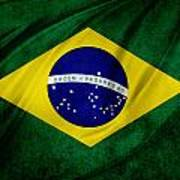Brazilian Flag Poster by Les Cunliffe