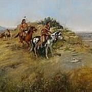 Buffalo Hunt Poster by Charles Marion Russell