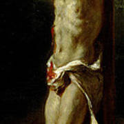 Christ On The Cross Poster by Delacroix