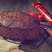 Christmas Cake Poster by Amanda And Christopher Elwell