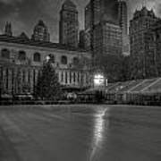 Christmas In Bryant Park Poster by Mike Horvath