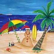 Christmas In Kona Poster by Pamela Allegretto