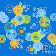 Colorful Circles Poster by Frank Tschakert