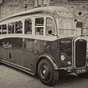 Dennis Lancet Vintage Bus Poster by Steev Stamford