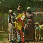 Dressing For The Carnival Poster by Winslow Homer