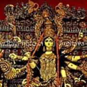 Durga Statue The Hindu Goddess #2 Poster by Amitava Ray