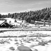 Evergreen Lake House Winter Poster by Ron White