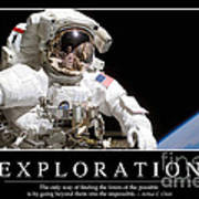 Exploration Inspirational Quote Poster by Stocktrek Images