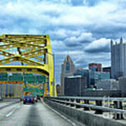 Fort Pitt Bridge And Downtown Pittsburgh Poster by Thomas R Fletcher