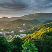 Gatlinburg Tennessee Great Smoky Mountain Sunrise Poster by Mark VanDyke