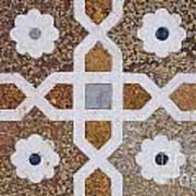 Geometric Designs On The Baby Taj Agra Poster by Robert Preston