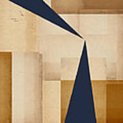 Geometry Indigo Number 5 Poster by Carol Leigh
