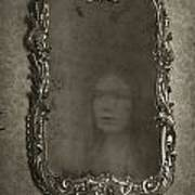 Ghost Of A Woman Reflected In A Mirror Poster by Lee Avison