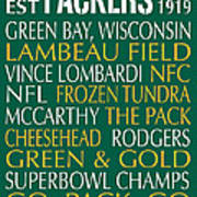 Green Bay Packers Poster by Jaime Friedman
