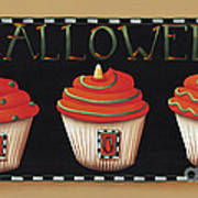Halloween Cupcakes Poster by Catherine Holman