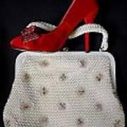 Handbag With Stiletto Poster by Joana Kruse