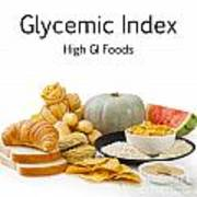 High Glycaemic Index Foods Poster by Colin and Linda McKie