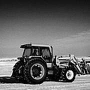 international 5140 tractor with front end loader on frozen field Forget Saskatchewan Canada Poster by Joe Fox