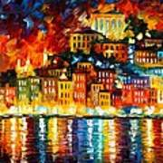 Inviting Harbor Poster by Leonid Afremov