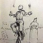 Juggler Poster by H James Hoff