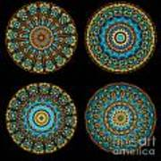 Kaleidoscope Steampunk Series Montage Poster by Amy Cicconi