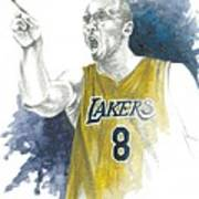 Kobe Bryant Poster by Christiaan Bekker