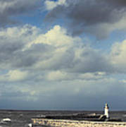 Lighthouse At Whitehaven Poster by Amanda And Christopher Elwell