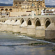 Mezquita And Roman Bridge In Cordoba Poster by Artur Bogacki