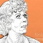 momma on Orange Poster by Jason Tricktop Matthews