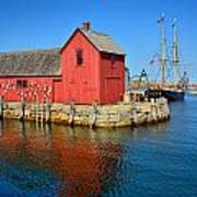 Motif Number One Rockport Lobster Shack Maritime Poster by Jon Holiday
