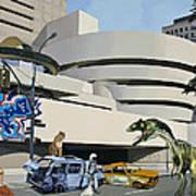 Post-nuclear Guggenheim Visit Poster by Scott Listfield