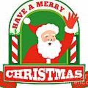 Santa Claus Father Christmas Retro Poster by Aloysius Patrimonio