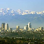Seattle Skyline Poster by King Wu